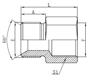 Чертеж на британски стандартни адаптери за маркучи