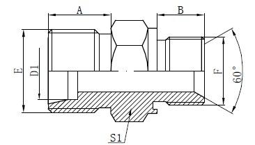 Фитинги за адаптери за затворено уплътнение
