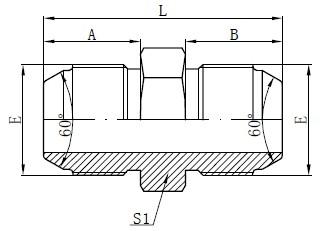 JIS Метрични мъжки адаптери